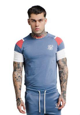 SikSilk Herren T-Shirt RAGLAN SPRINT TEE SS-13778 Blau – Bild 1