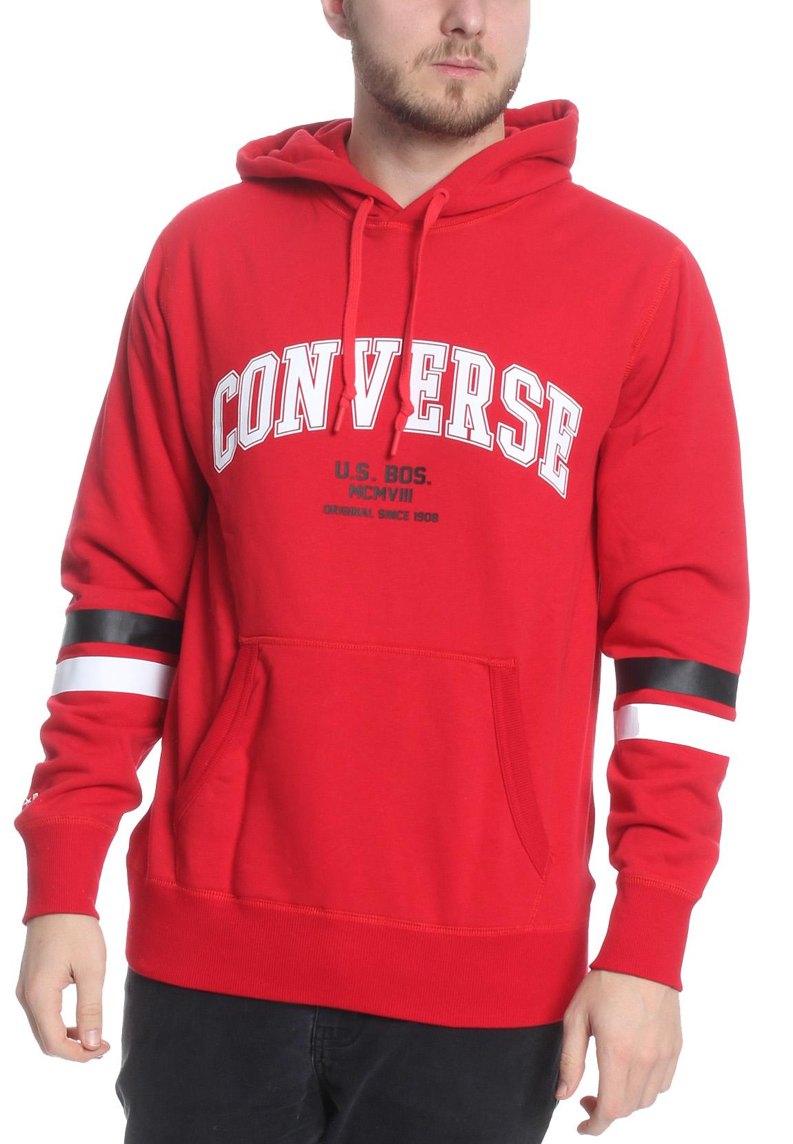Men Adidas Originals Trefoil Pullover Hoodie Collegiate Red [z] DU7779 | eBay