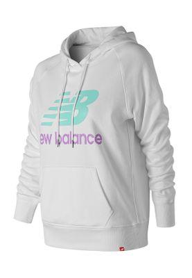 New Balance Damen Hoodie ESSE PO HOODIE WT91523 White
