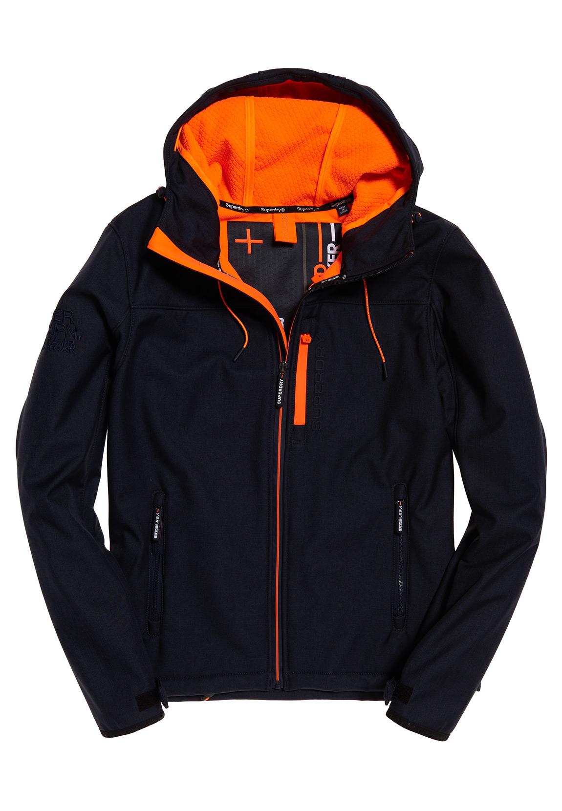 save off 5a3b9 3e2bb Superdry Jacke Herren HOODED WINDTREKKER Deep Navy/Lazer Orange