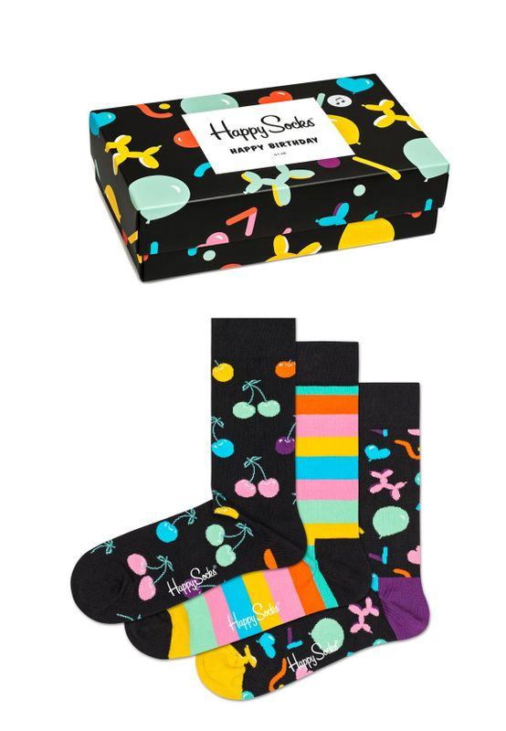 Happy Socks Geschenkbox HAPPY BIRTHDAY GIFT BOX XBDA08-7300 Schwarz – Bild 0