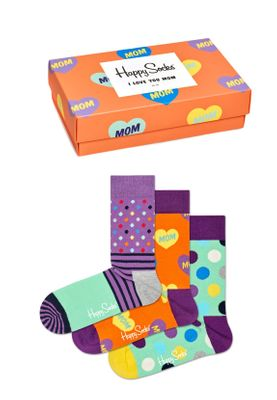 Happy Socks Geschenkbox I LOVE YOU MOM GIFT BOX XMOT08-7300 Orange – Bild 0