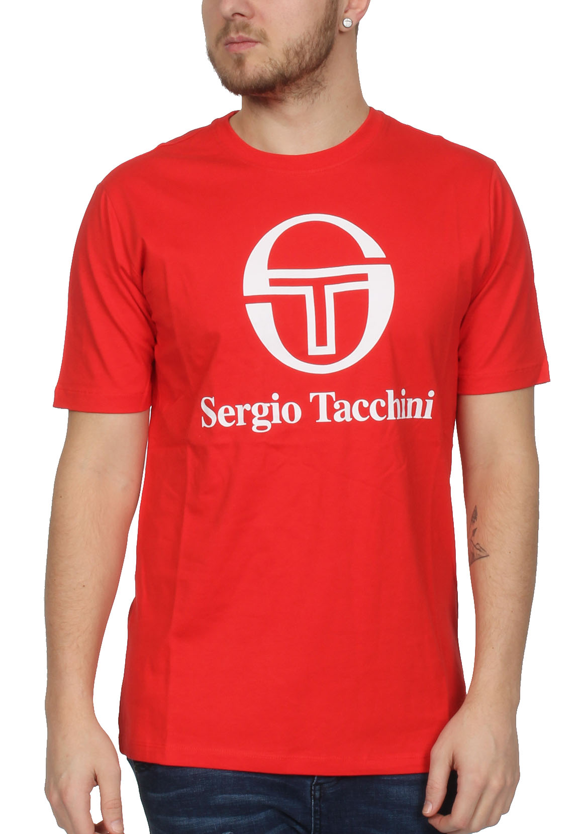 sergio tacchini t shirt herren chiko 038049 vintage red. Black Bedroom Furniture Sets. Home Design Ideas