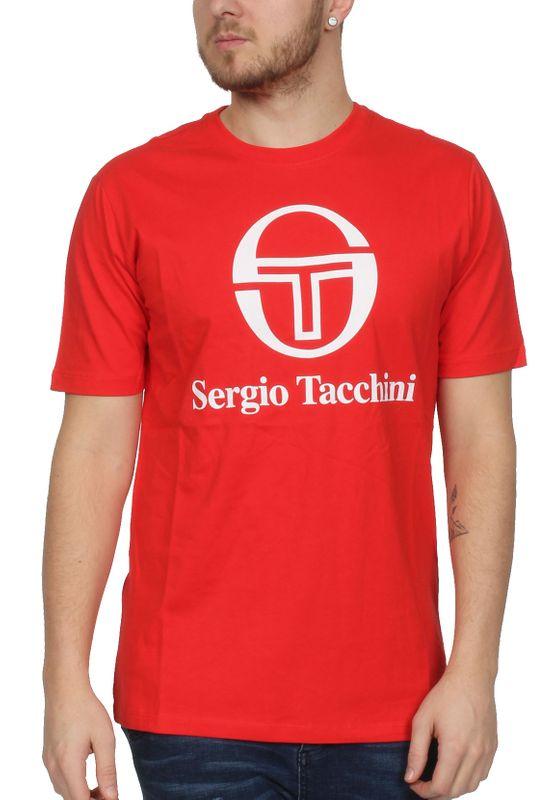 Sergio Tacchini T-Shirt Herren CHIKO 038049 Vintage Red White – Bild 0