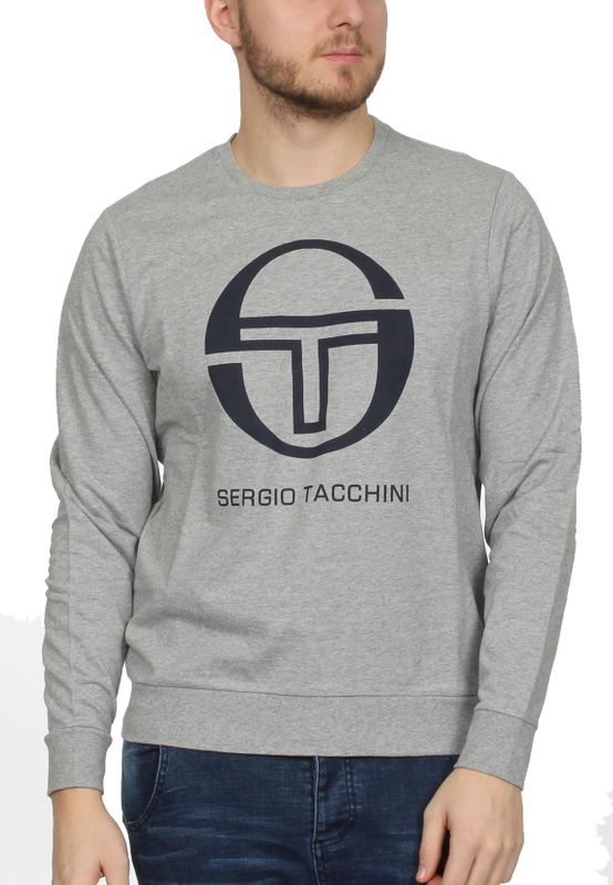 Sergio Tacchini Sweater Herren CIAO 038027 Grey Melange Navy – Bild 0