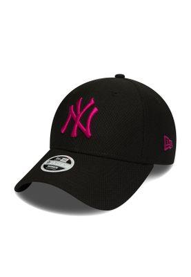 New Era Diamond Era 9Forty Damen Cap NY YANKEES Schwarz Pink – Bild 0