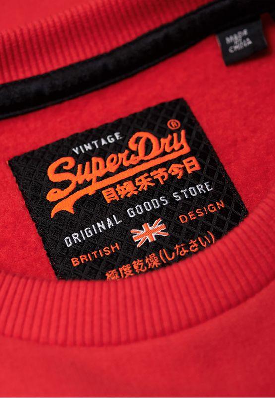 Superdry Sweater Herren SWEAT SHIRT STORE CREW Superdry Stadium Red – Bild 1