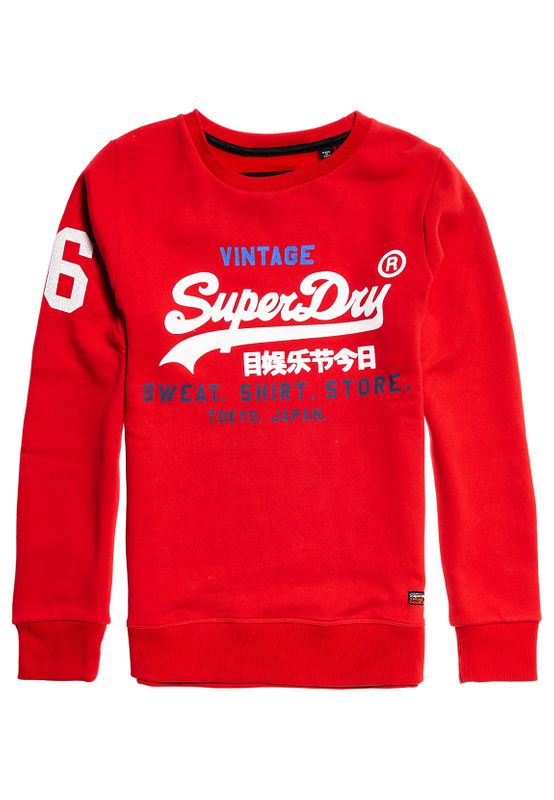 Superdry Sweater Herren SWEAT SHIRT STORE CREW Superdry Stadium Red – Bild 0