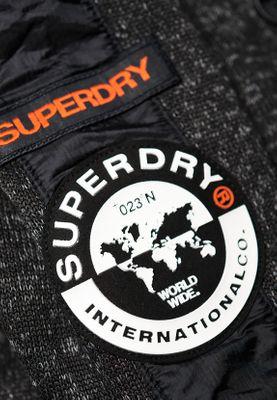 Superdry Jacke Herren STORM INTERNATIONAL ZIPHOOD Black Grit – Bild 2