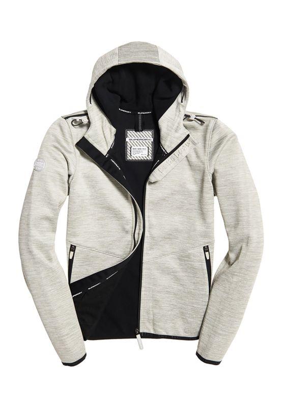 Superdry Jacke Damen HOODED PRISM WINDTREKKER Grey Slub/Black – Bild 1