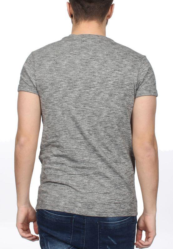 Scotch & Soda T-Shirt Men POCKET TEE 1304-09.51153 Grau meliert – Bild 2