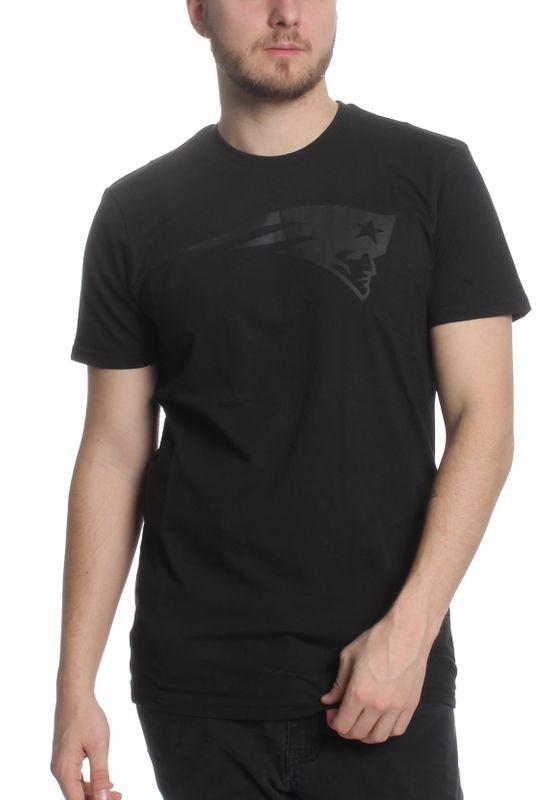 New Era NFL Tonal Black Logo Tee Herren NEW ENGLAND PATRIOTS Schwarz – Bild 1