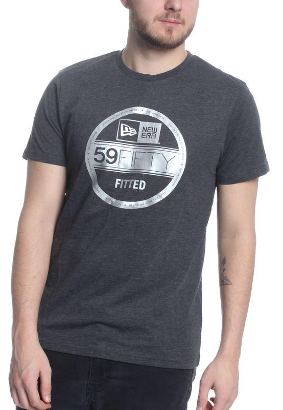 New Era T-Shirt Herren NE VISOR STICKER TEE Grau Silber – Bild 1