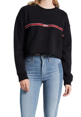 Levis Damen Sweatshirt GRAPHIC RAW CUT CREW 56340-0010 Schwarz – Bild 1