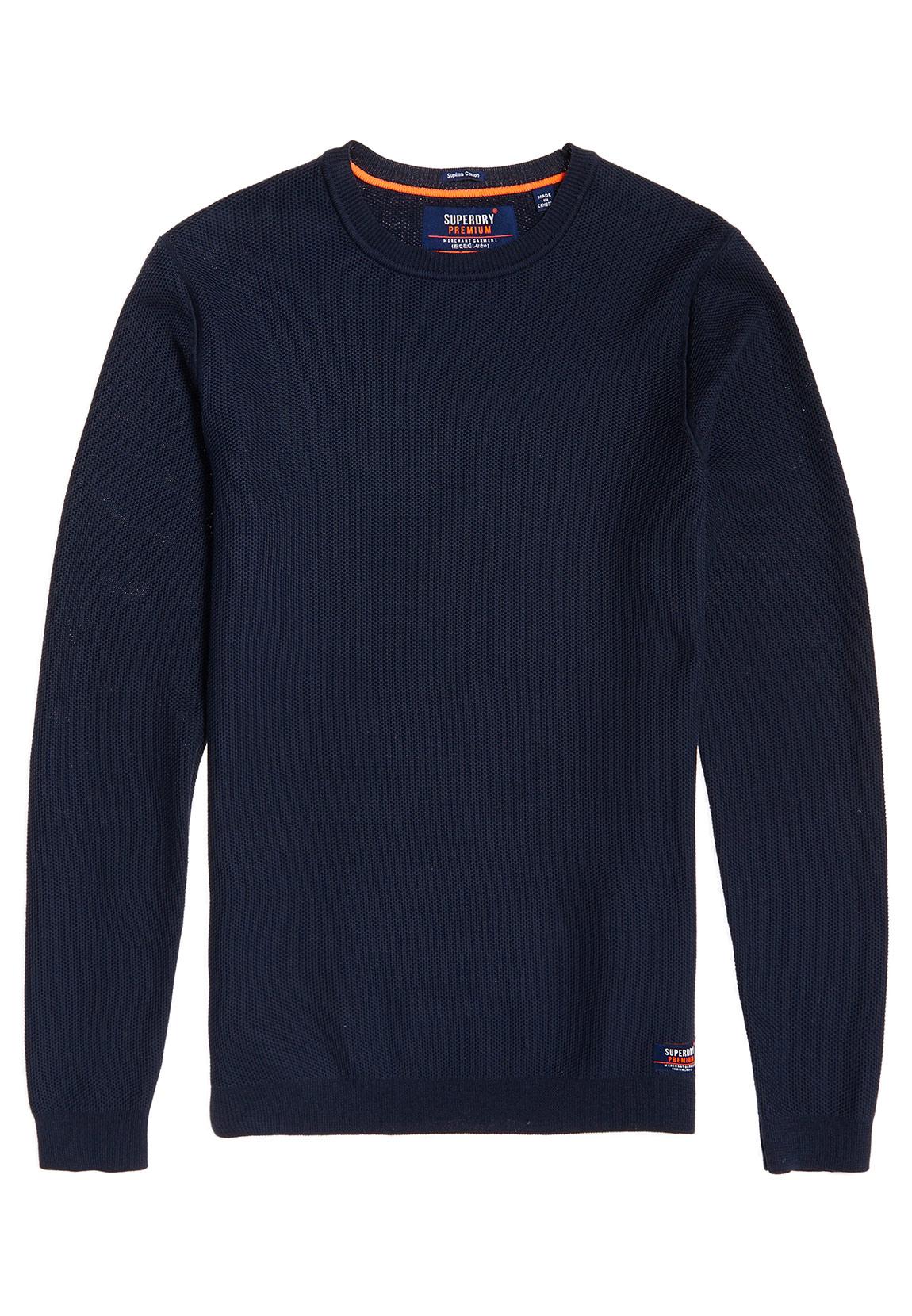 Superdry Sweater Men's Supima Cotton Crew Cloud | eBay