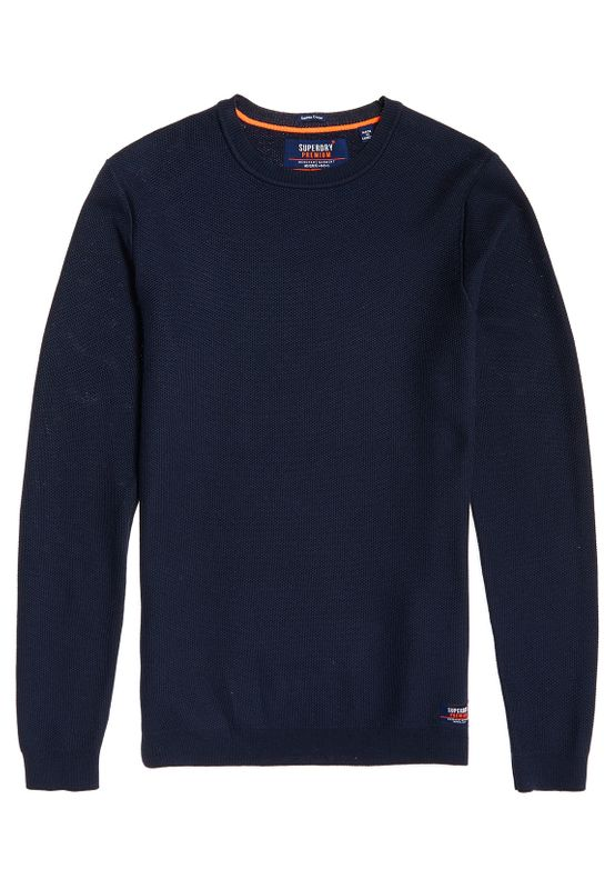 Superdry Pullover Herren SUPIMA COTTON CREW Dark Navy