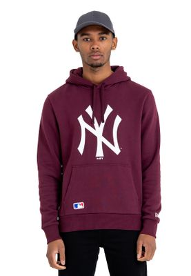 New Era Team Logo Hoody Herren NEW YORK YANKEES Dunkelrot – Bild 0