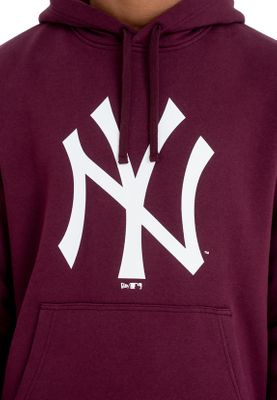 New Era Team Logo Hoody Herren NEW YORK YANKEES Dunkelrot – Bild 2