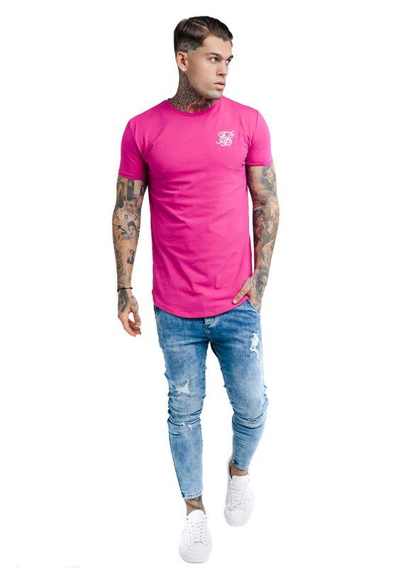 SikSilk Herren T-Shirt GYM TEE SS-13519 Sangria Pink – Bild 4