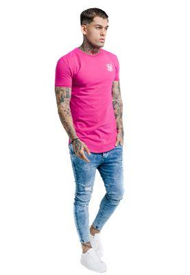 SikSilk Herren T-Shirt GYM TEE SS-13519 Sangria Pink – Bild 2