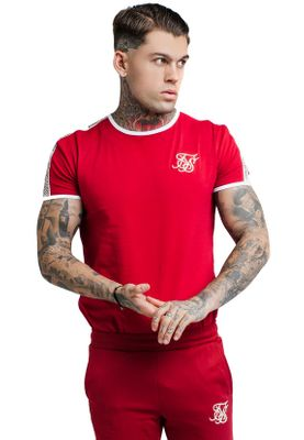 SikSilk Herren T-Shirt SS TAPED RUNNER TEE SS-14259 Red – Bild 0