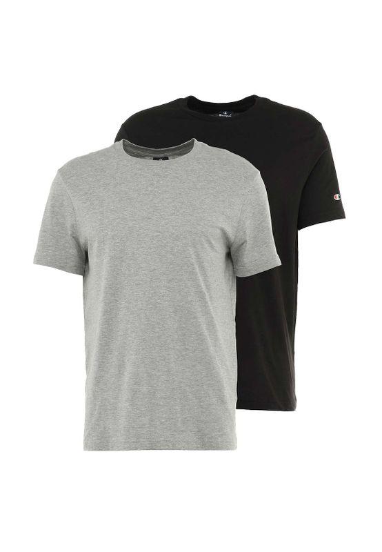 Champion T-Shirt 2er Set Herren 213182 S19 EM006 OXGM/NBK Grau Schwarz