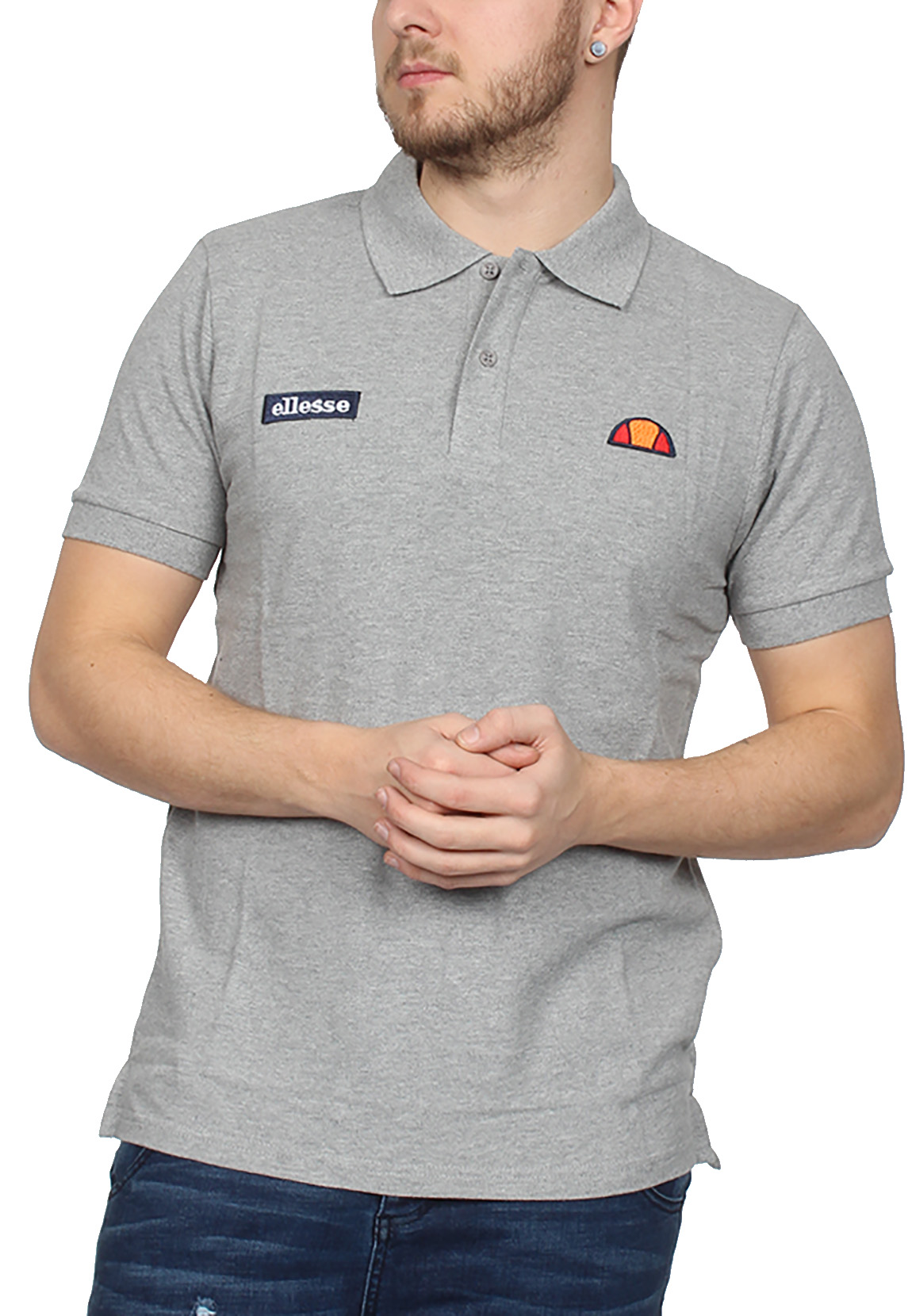 Ellesse Poloshirt Herren MONTURA POLO Grau Athletic Grey Marl