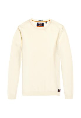 Superdry Pullover Herren SUPIMA COTTON CREW Cloud – Bild 0