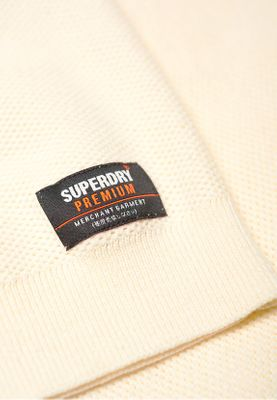 Superdry Pullover Herren SUPIMA COTTON CREW Cloud – Bild 1