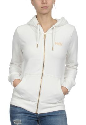 Superdry Zipper Damen ORANGE LABEL ELITE Rodeo White – Bild 0
