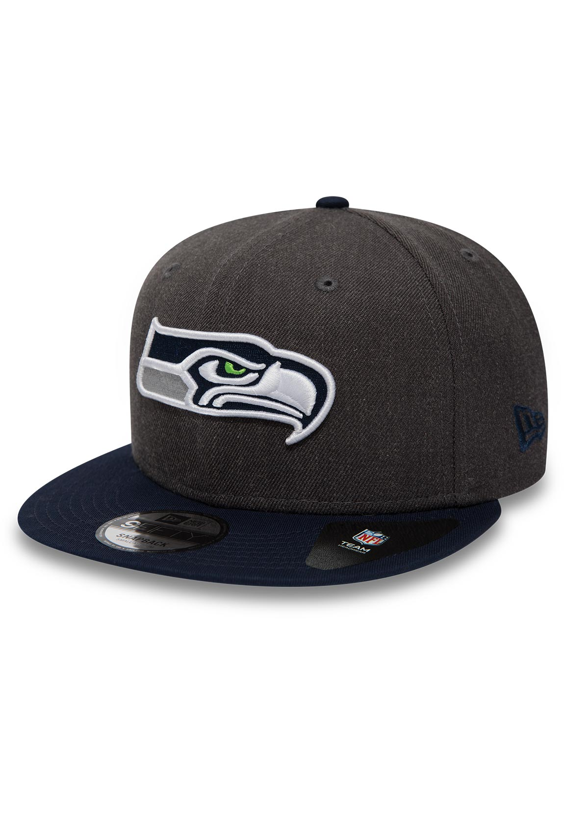 the best attitude a3fb9 1ae19 Details about New Era NFL Heather 9Fifty Snapback Cap Seattle Seahawks Grey