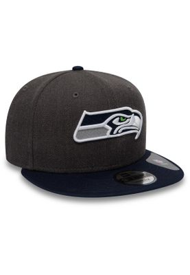 New Era NFL Heather 9Fifty Snapback Cap SEATTLE SEAHAWKS Grau  – Bild 1