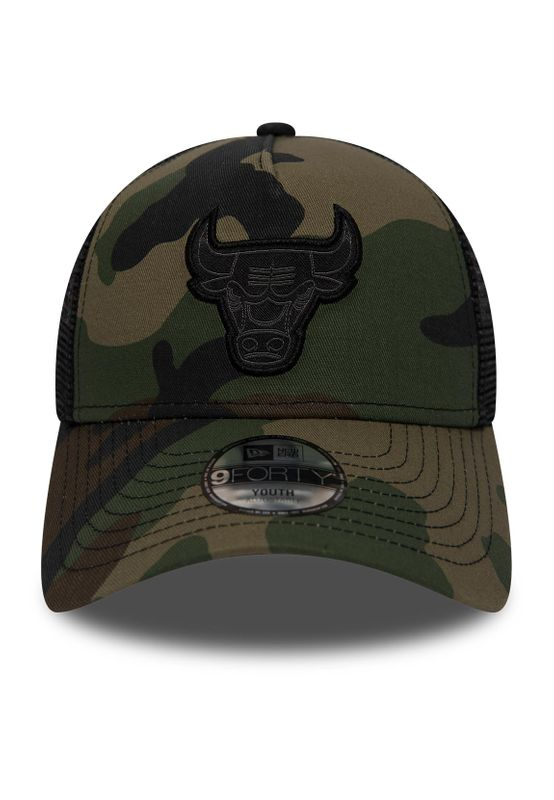 New Era Character 9Forty Trucker Kinder Cap CHICAGO BULLS Camouflage – Bild 1