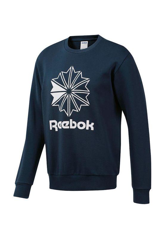 Reebok Sweater Herren AC FT BIG STARCREST CREW DT8124 Dunkelblau Ansicht