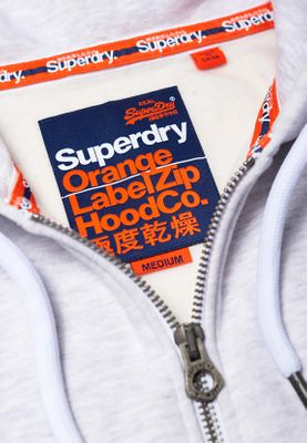 Superdry Zipper Men ORANGE LABEL ZIPHOOD Ice Marl – Bild 1
