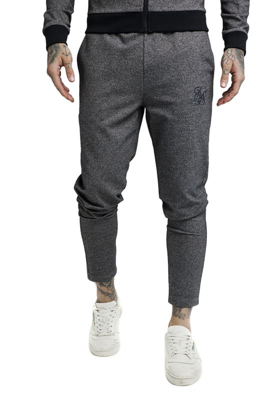 SikSilk Jogger Herren TECH TWEED ULTRA CROPPED TAPED PANT SS-13985 Grau Grey – Bild 1