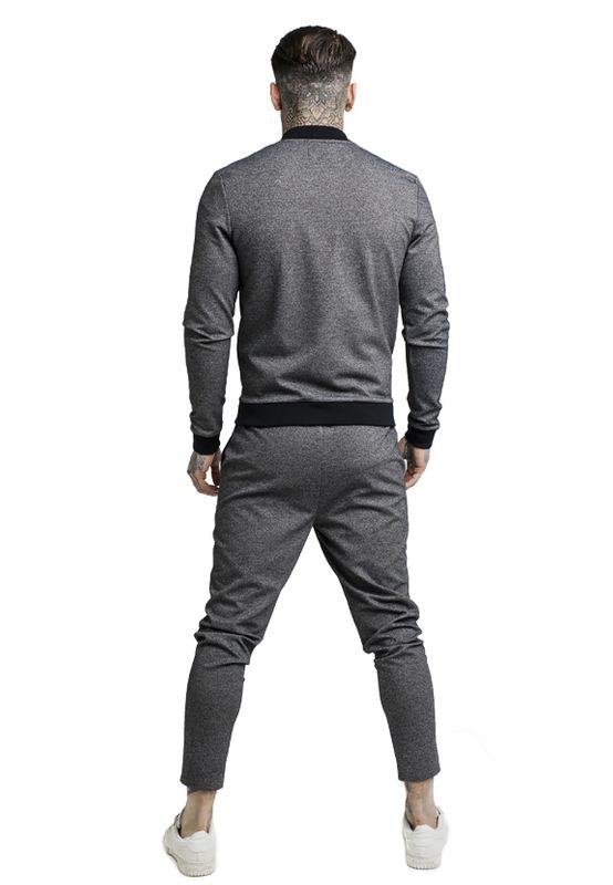 SikSilk Jogger Herren TECH TWEED ULTRA CROPPED TAPED PANT SS-13985 Grau Grey – Bild 4