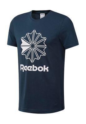 Reebok T-Shirt Herren CL BIG LOGO TEE DT8116 Blau – Bild 0