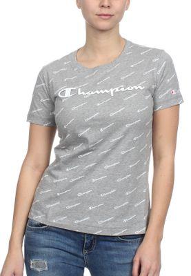 Champion T-Shirt Damen 111437 S19 EL002 OXGM/Allover Grau – Bild 0