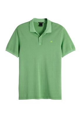 Scotch & Soda Polo Men CLASSIC GARMENT DYED PIQUE 149084 Grün 2783 Surf Green