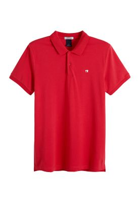 Scotch & Soda Polo Men CLASSIC CLEAN PIQUE 149073 Rot 2762 Fiesta Red