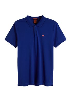 Scotch & Soda Polo Men CLASSIC CLEAN PIQUE 149073 Blau 0004 Navy