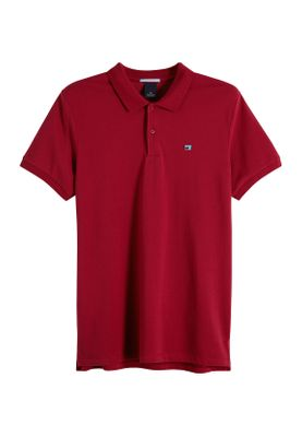 Scotch & Soda Polo Men CLASSIC CLEAN PIQUE 149073 Dunkelrot 0737 Berry