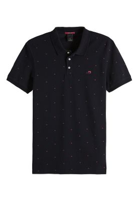 Scotch & Soda Polo Men CLASSIC GARMENT DYED PIQUE 149083 Schwarz 0222 Combo F