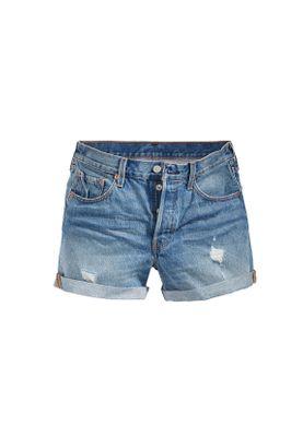 Levis Damen Shorts 501 LONG SHORT 29961-0005 Blau