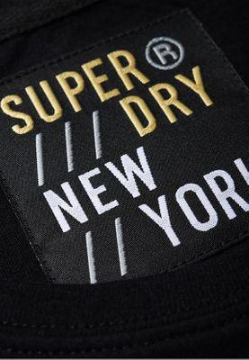 Superdry T-Shirt Damen MINIMAL LOGO TAPE PORTLAND TEE Black – Bild 1