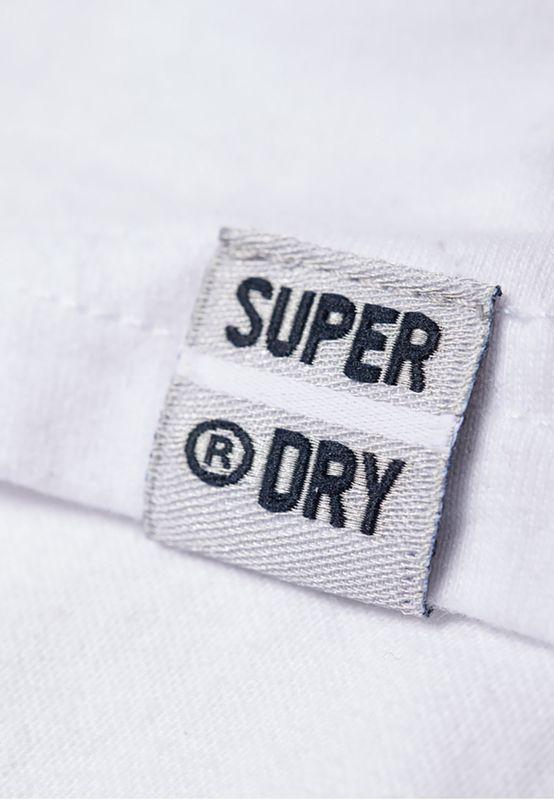 Superdry T-Shirt Damen MINIMAL LOGO TONAL EMB PORTLAN Optic – Bild 4