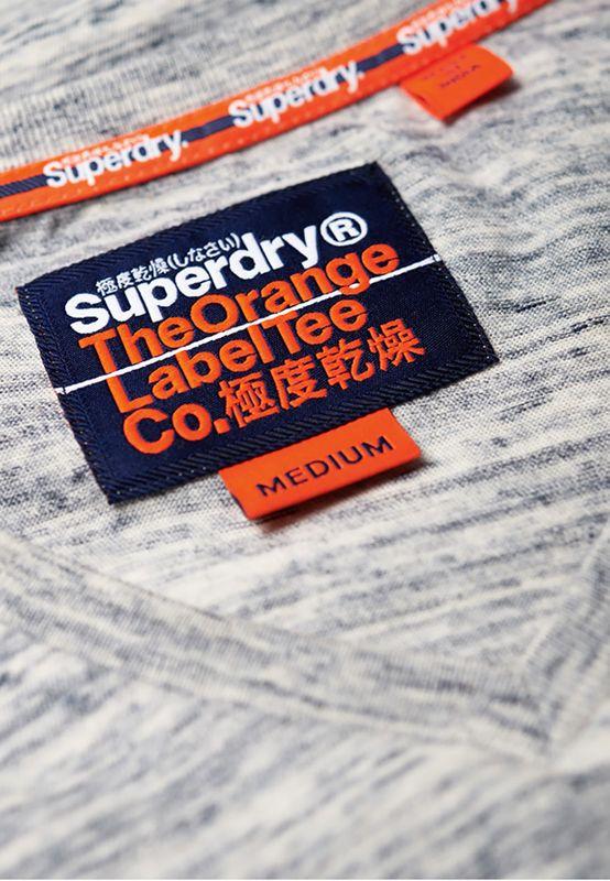Superdry T-Shirt Herren ORANGE LABEL VINTAGE EMBROIDER Pearl Smoke Space Dye – Bild 2