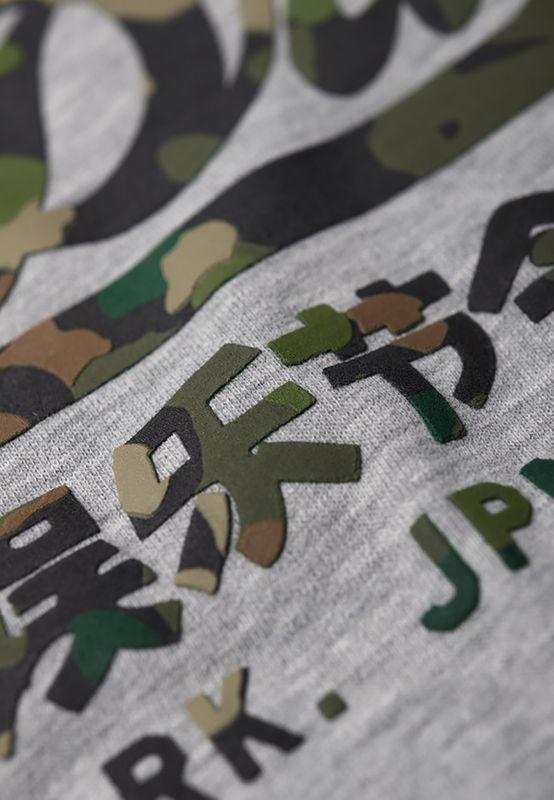 Superdry T-Shirt Herren VINTAGE LOGO LAYEREDE CAMO Grey Marl – Bild 2