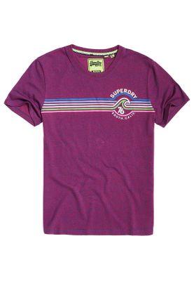 Superdry T-Shirt Herren MALIBU Rust Blue Grit